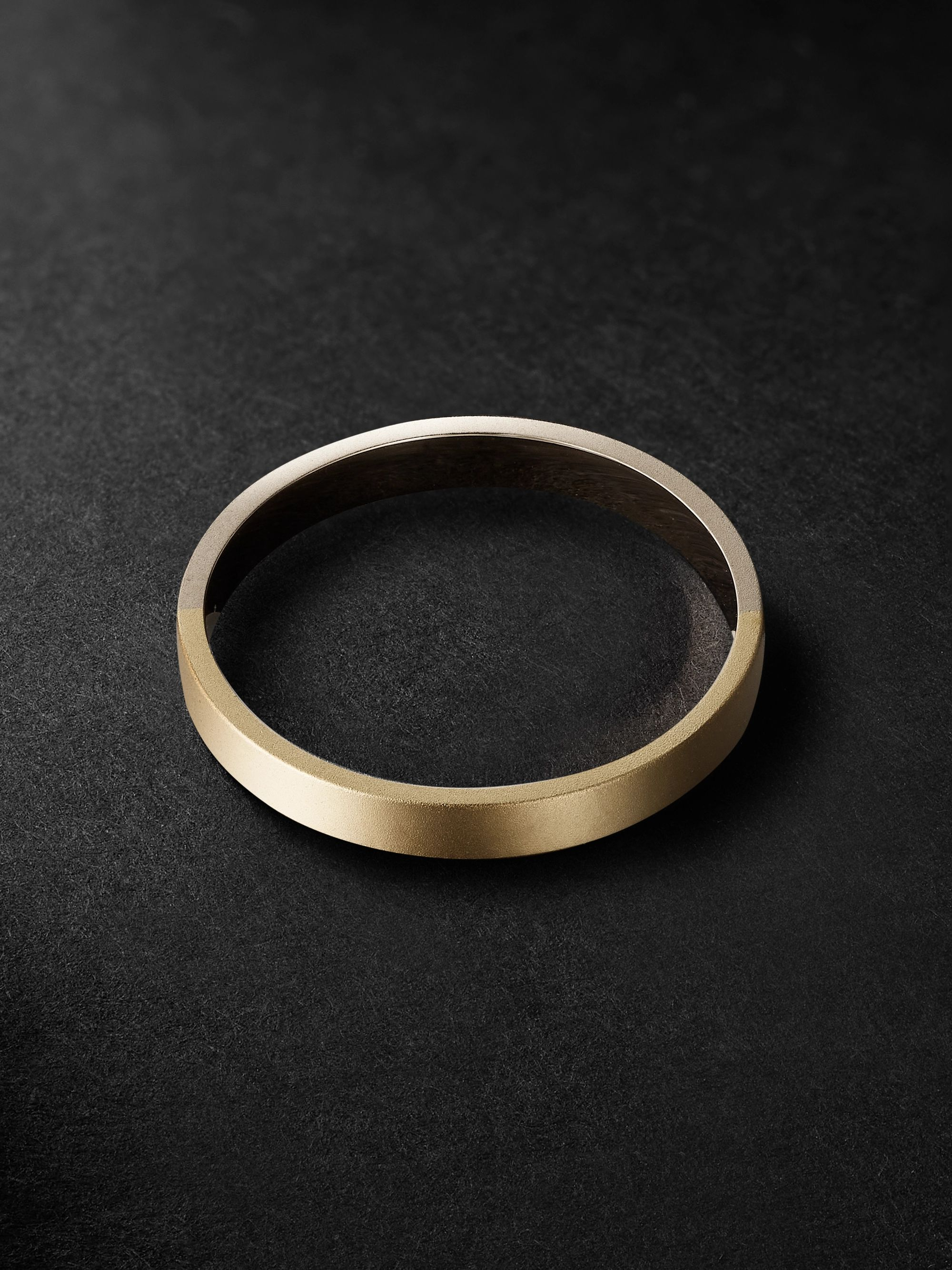 MIANSAI Edge Matte 14-Karat White and Yellow Gold Ring