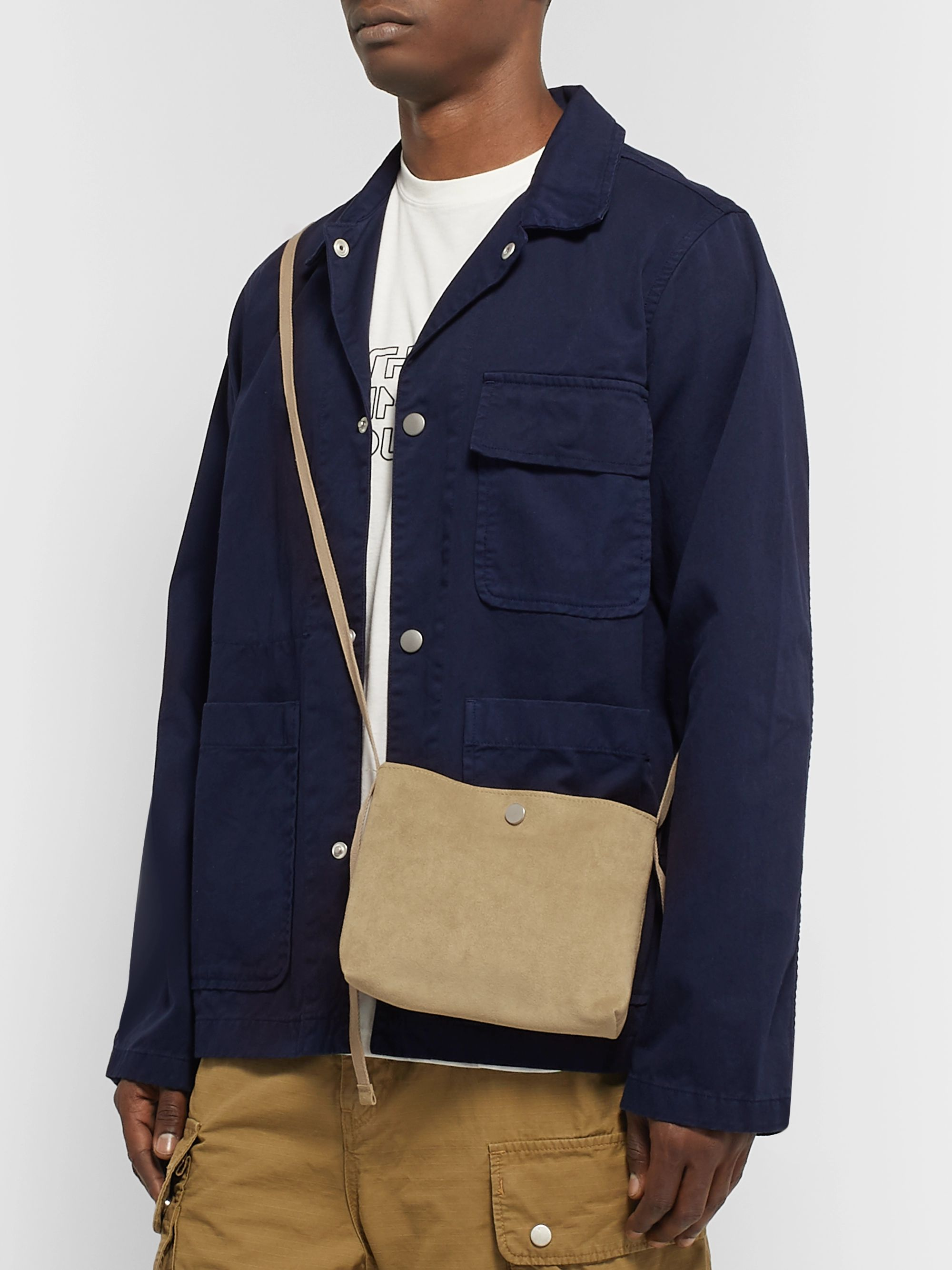 nonnative Dweller Faux Suede Messenger Bag