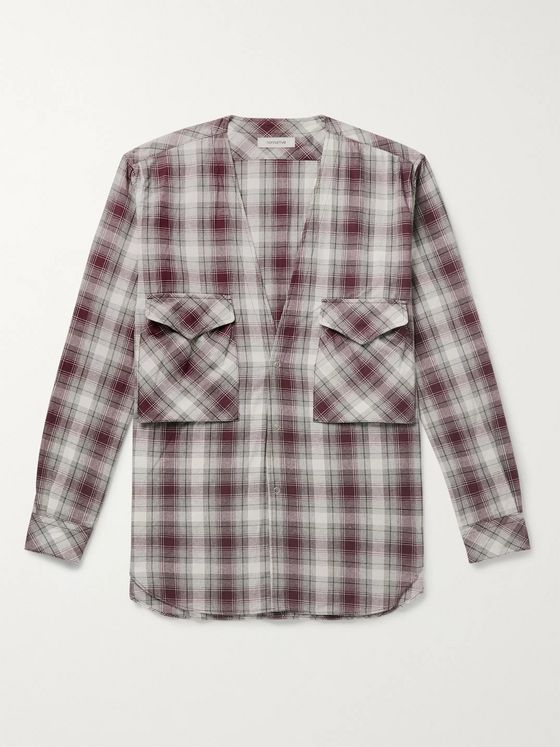 nonnative Carpenter Checked Cotton-Flannel Shirt