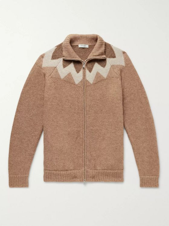 nonnative Carpenter Intarsia-Knit Zip-Up Cardigan