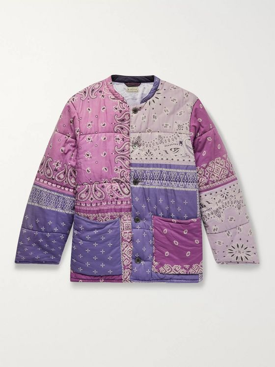 KAPITAL Patchwork Bandana-Print Padded Cotton Jacket