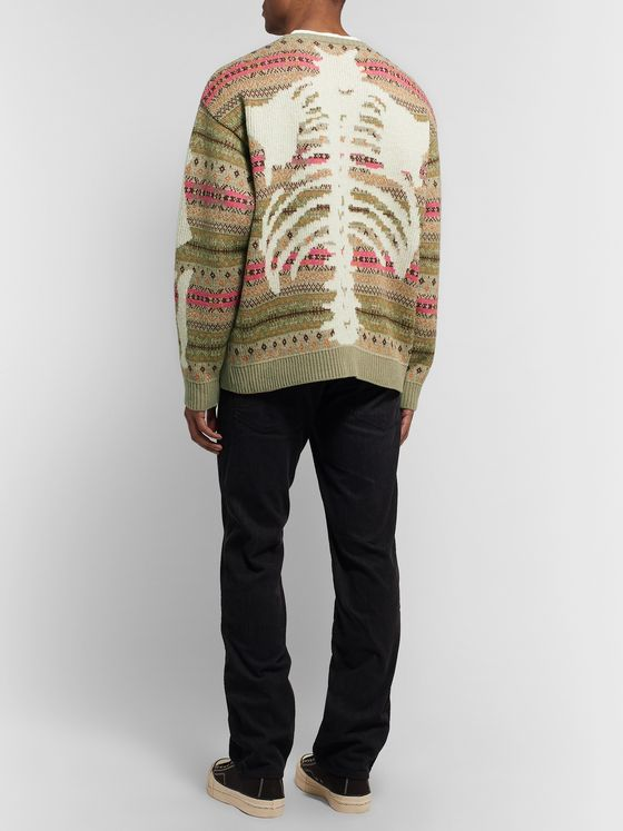 KAPITAL Fair Isle Wool-Blend Jacquard Sweater