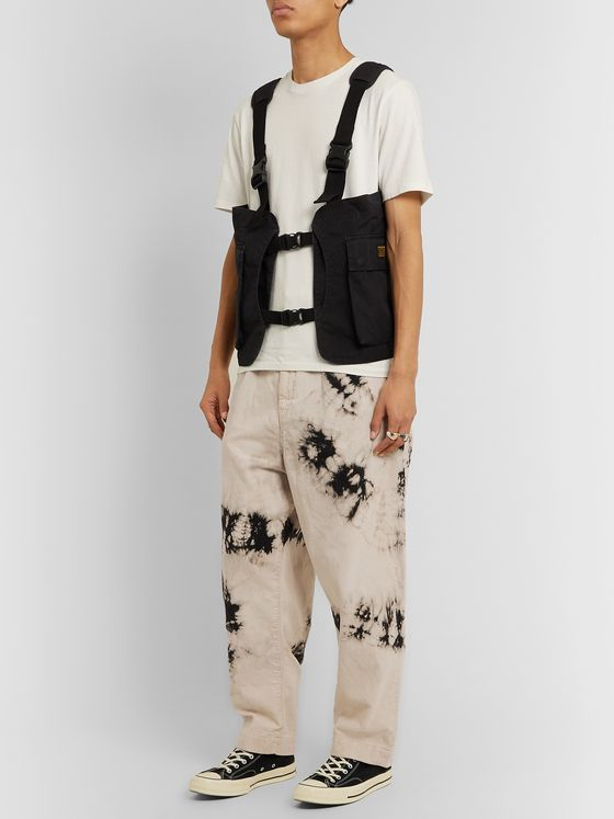 KAPITAL Ashbury Wide-Leg Tie-Dyed Cotton-Corduroy Trousers