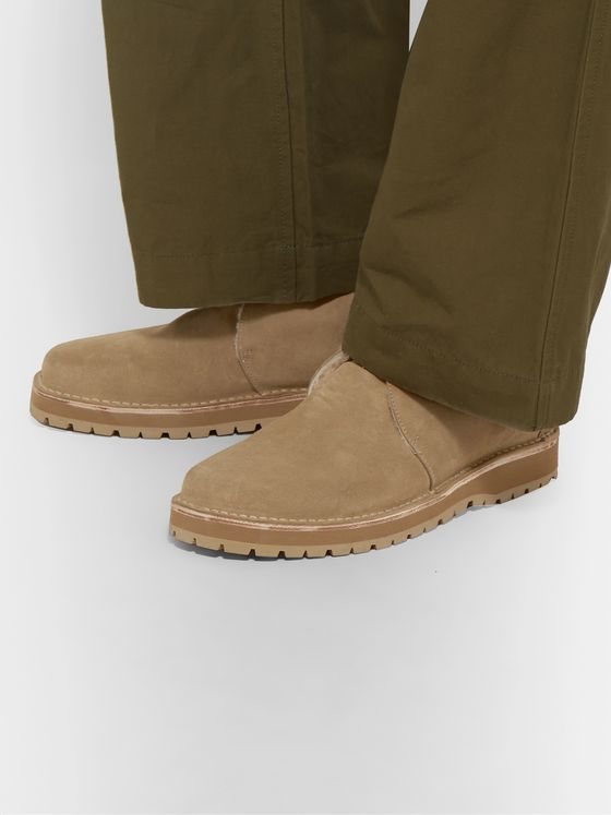nonnative Carpenter Shearling-Lined Suede Desert Boots