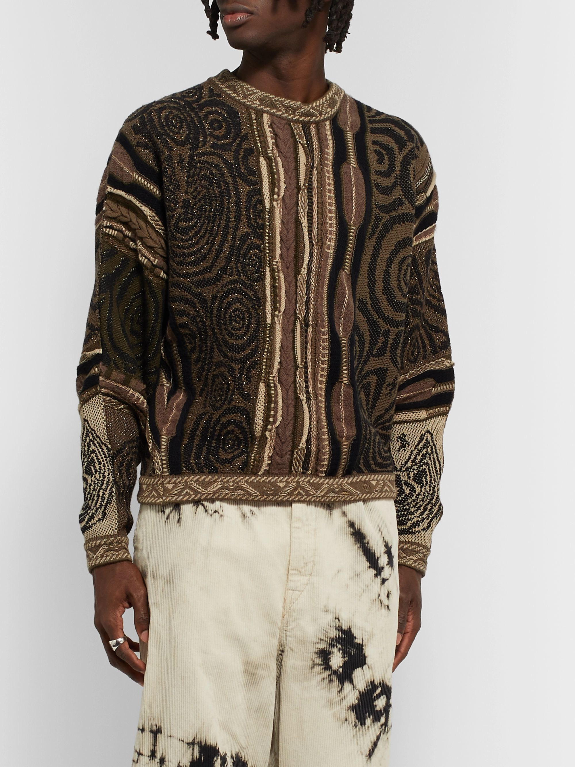 KAPITAL Textured Cotton-Blend Sweater