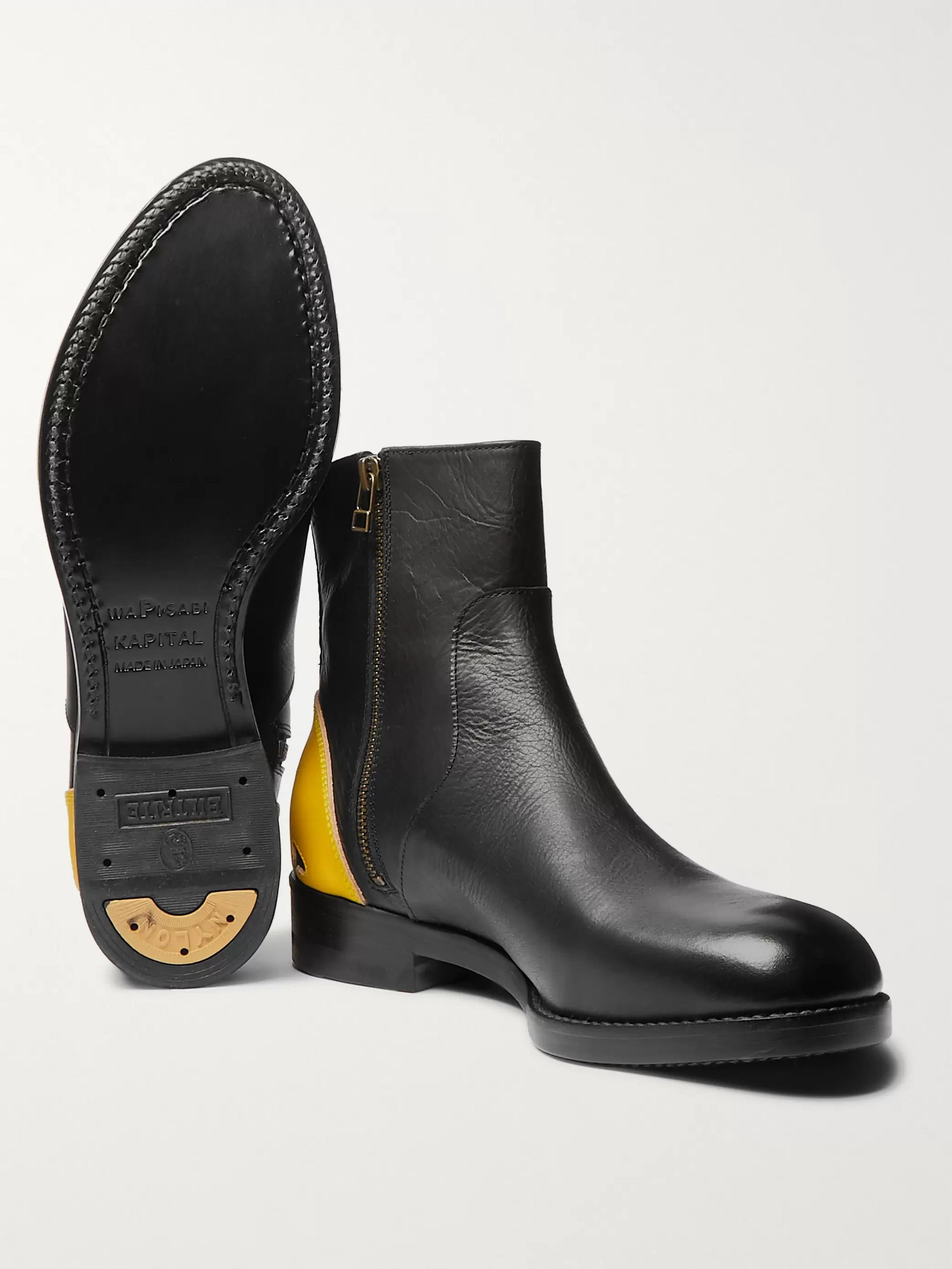 KAPITAL Smiley Leather Chelsea Boots