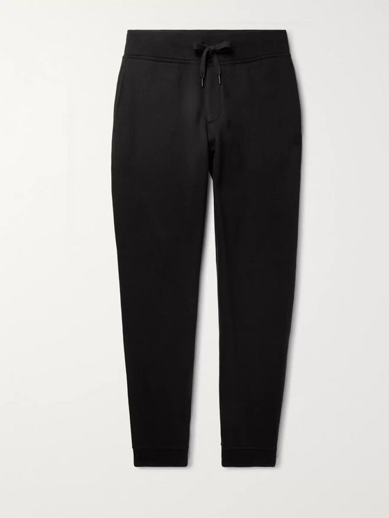 rag & bone Tapered Brushed Fleece-Back Cotton-Jersey Sweatpants
