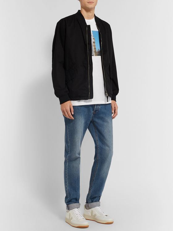 rag & bone Printed Cotton-Jersey T-Shirt