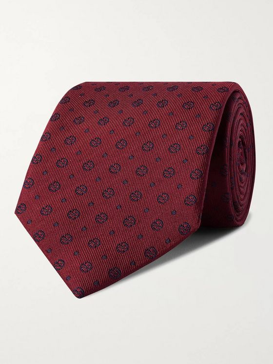 Kingsman + Drake's 8cm Logo-Embroidered Silk-Faille Tie