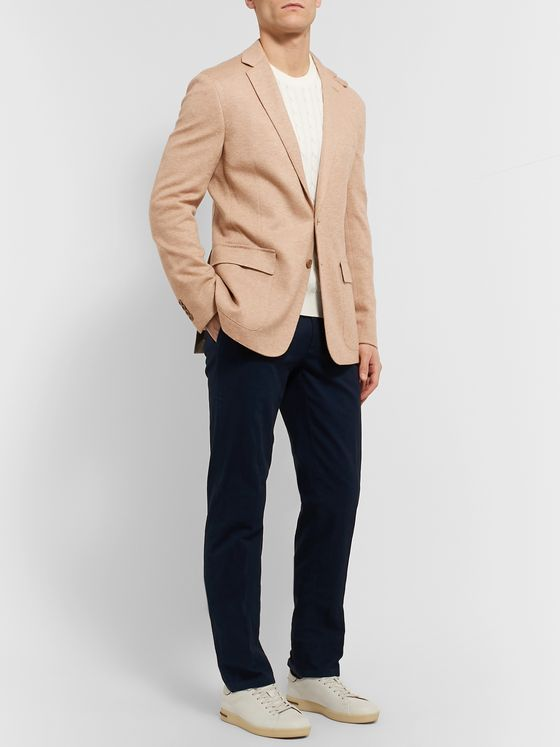 Ralph Lauren Purple Label Slim-Fit Unstructured Camel Hair-Jersey Blazer