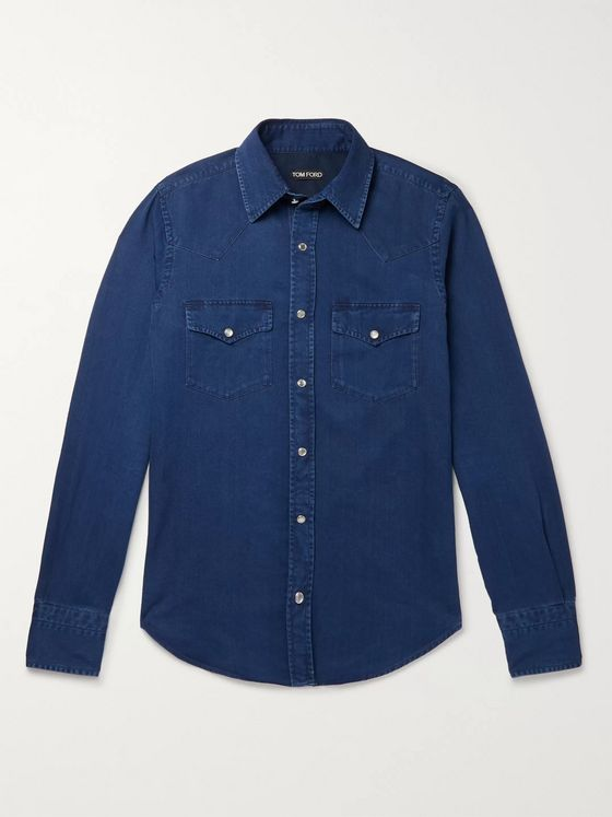 TOM FORD Slim-Fit Denim Western Shirt