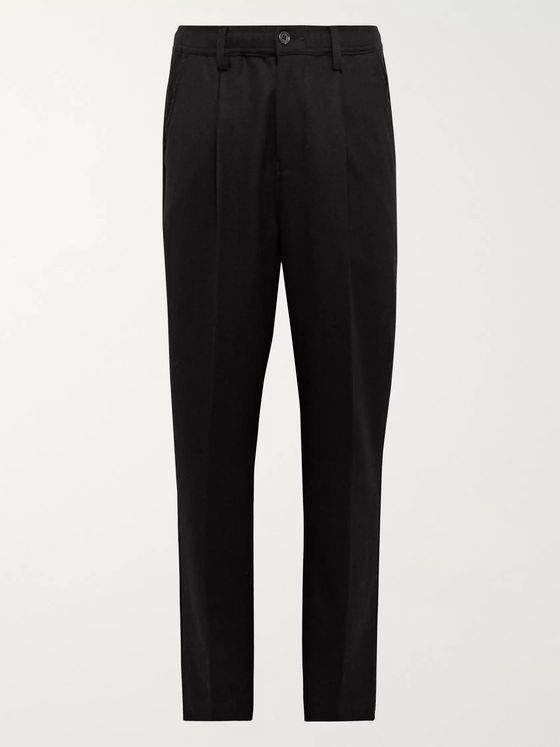 Saturdays NYC Black Varick Tapered Wool-Blend Trousers