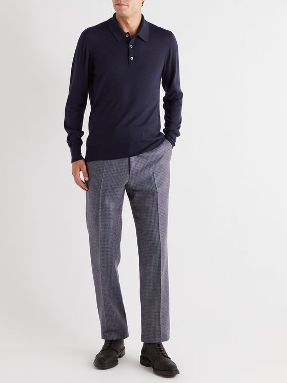 KINGSMAN Cashmere Polo Shirt