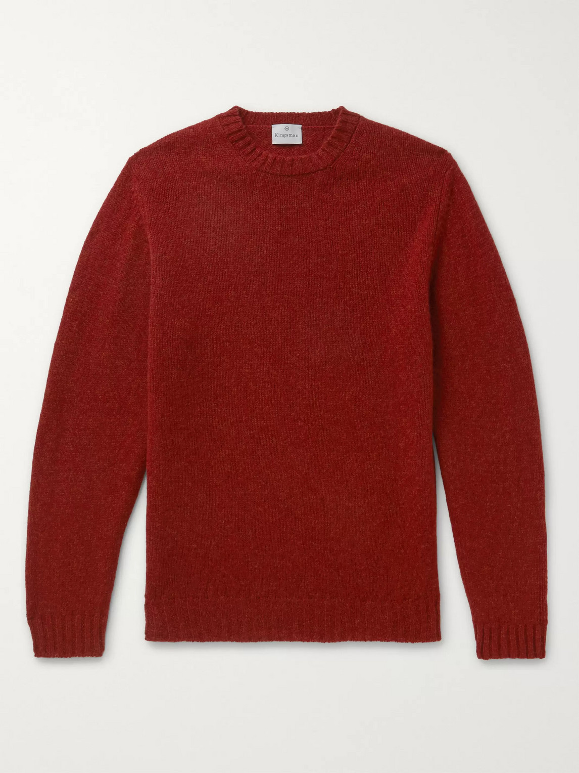 Kingsman Shetland Wool Sweater In Burgundy