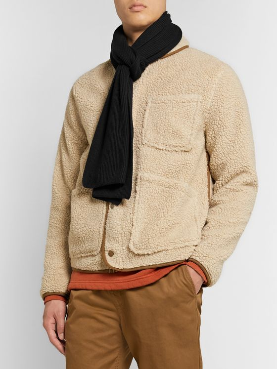 Saturdays NYC 1x1 Ribbed Cotton and Cashmere-Blend Scarf