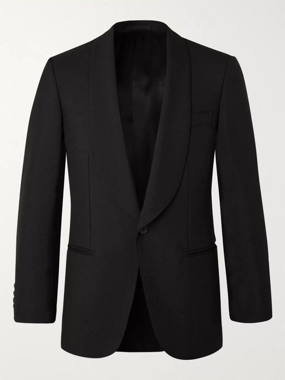 KINGSMAN Slim-Fit Wool and Mohair-Blend Tuxedo Jacket