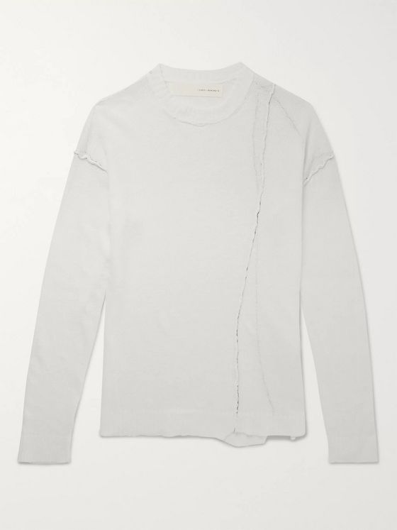 Isabel Benenato Distressed Linen Sweater