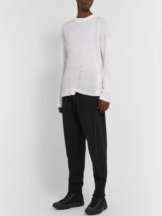 Isabel Benenato Tapered Knitted Sweatpants