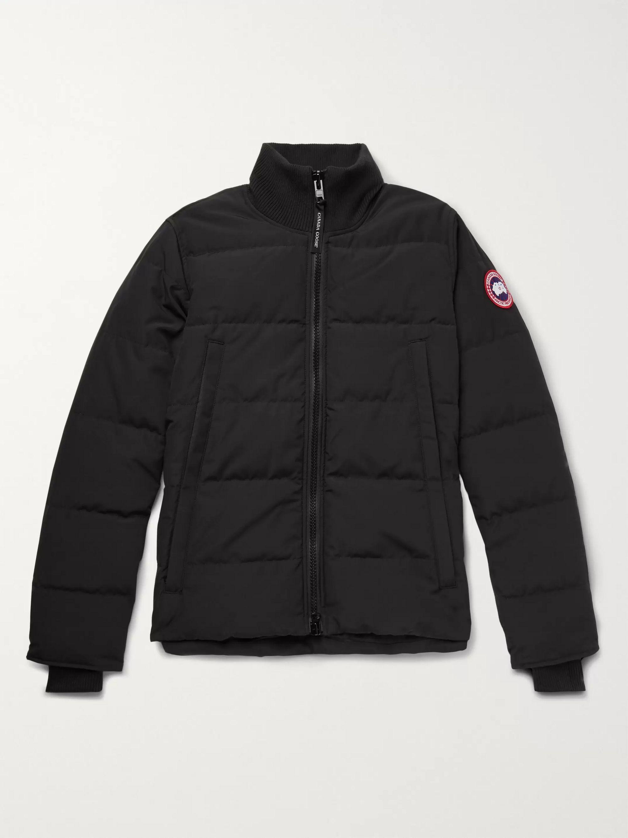 캐나다 구스 Canada Goose Black Woolford Slim-Fit Quilted Arctic Tech Down Jacket,Black
