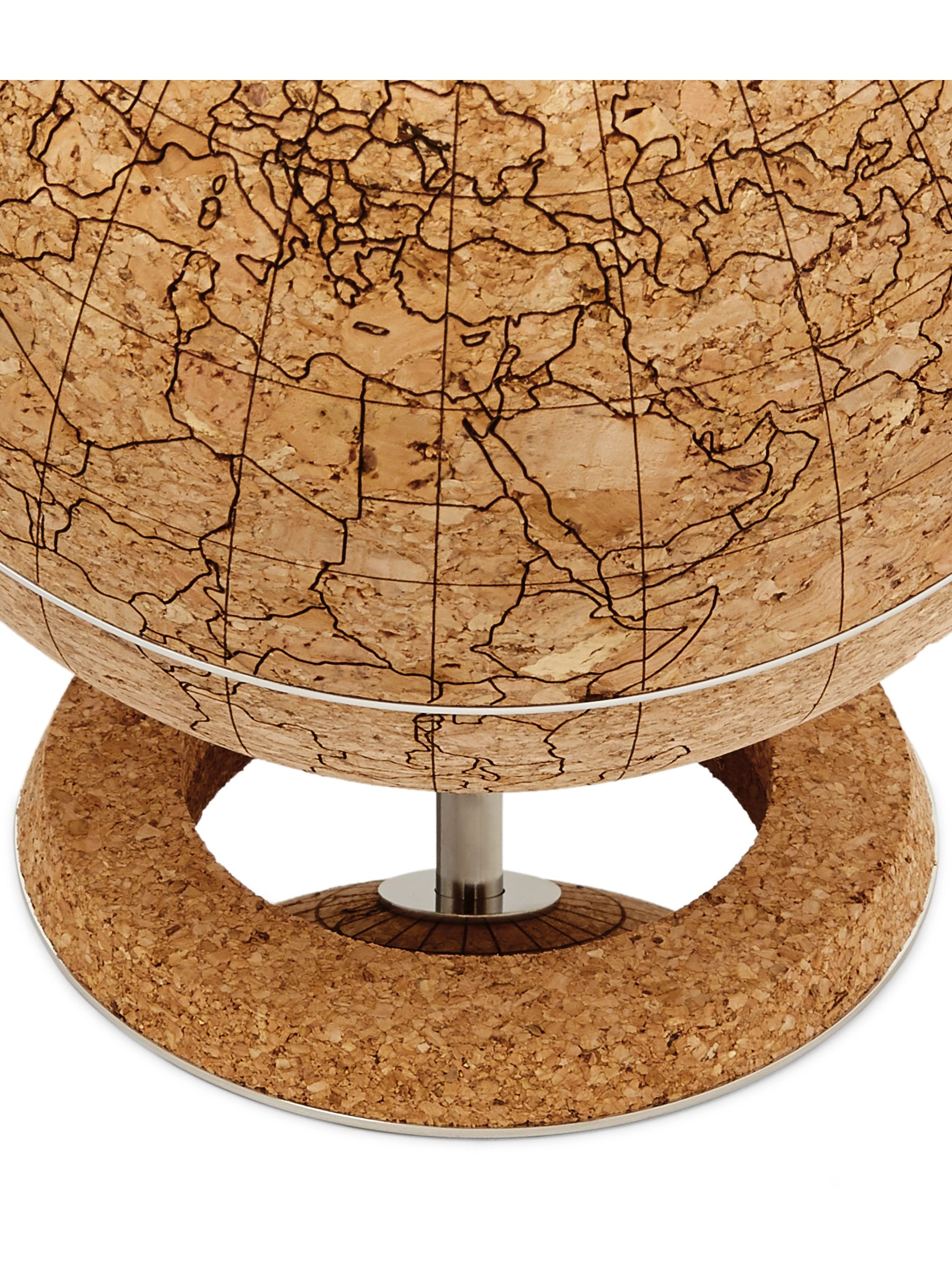 Brunello Cucinelli Printed Cork and Stainless Steel Globe