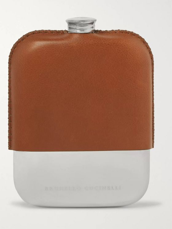 Brunello Cucinelli Leather Hip Flask