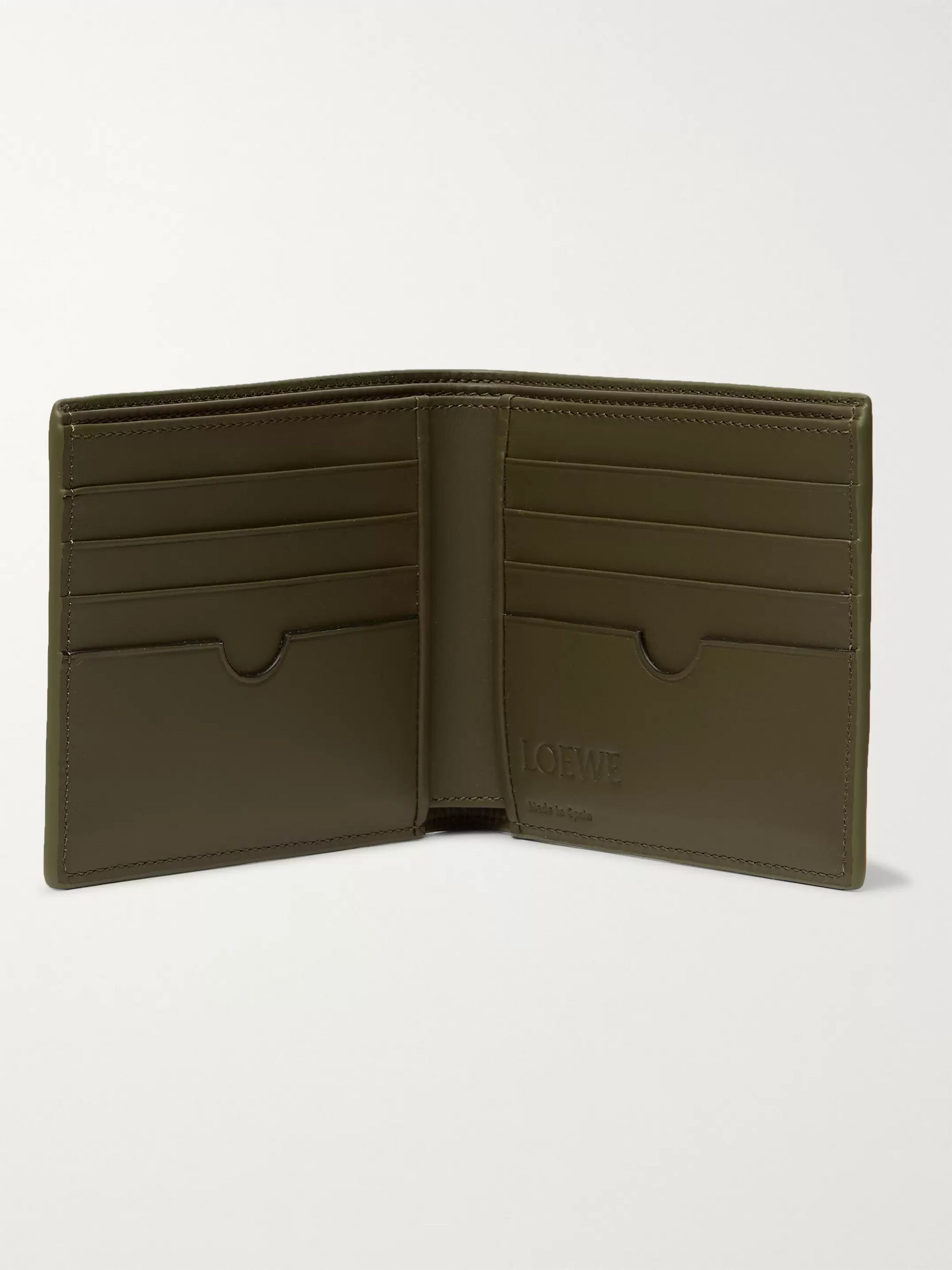 Loewe Logo-Debossed Leather Billfold Wallet