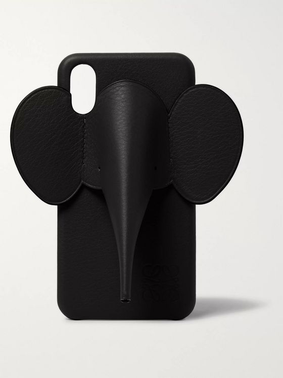 Loewe Elephant Full-Grain Leather iPhone X and XS Case