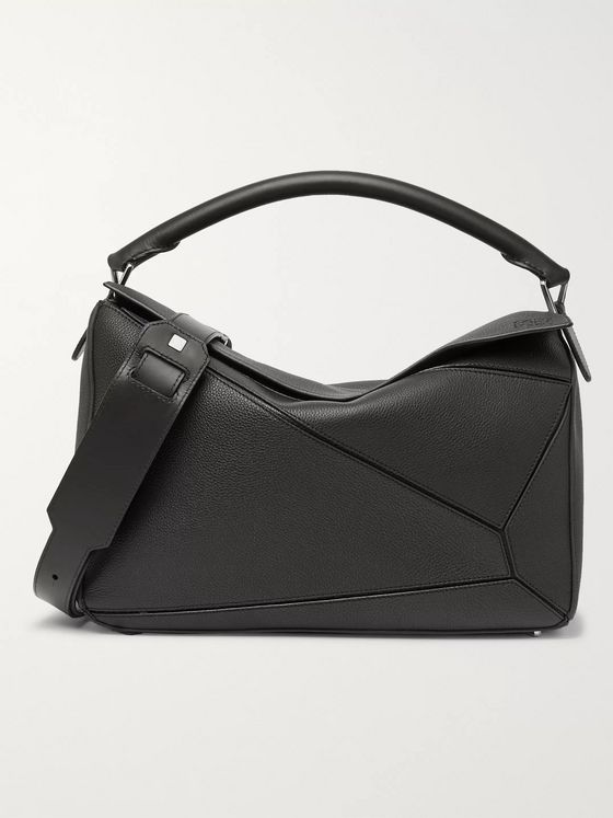 Loewe Puzzle Textured-Leather Messenger Bag