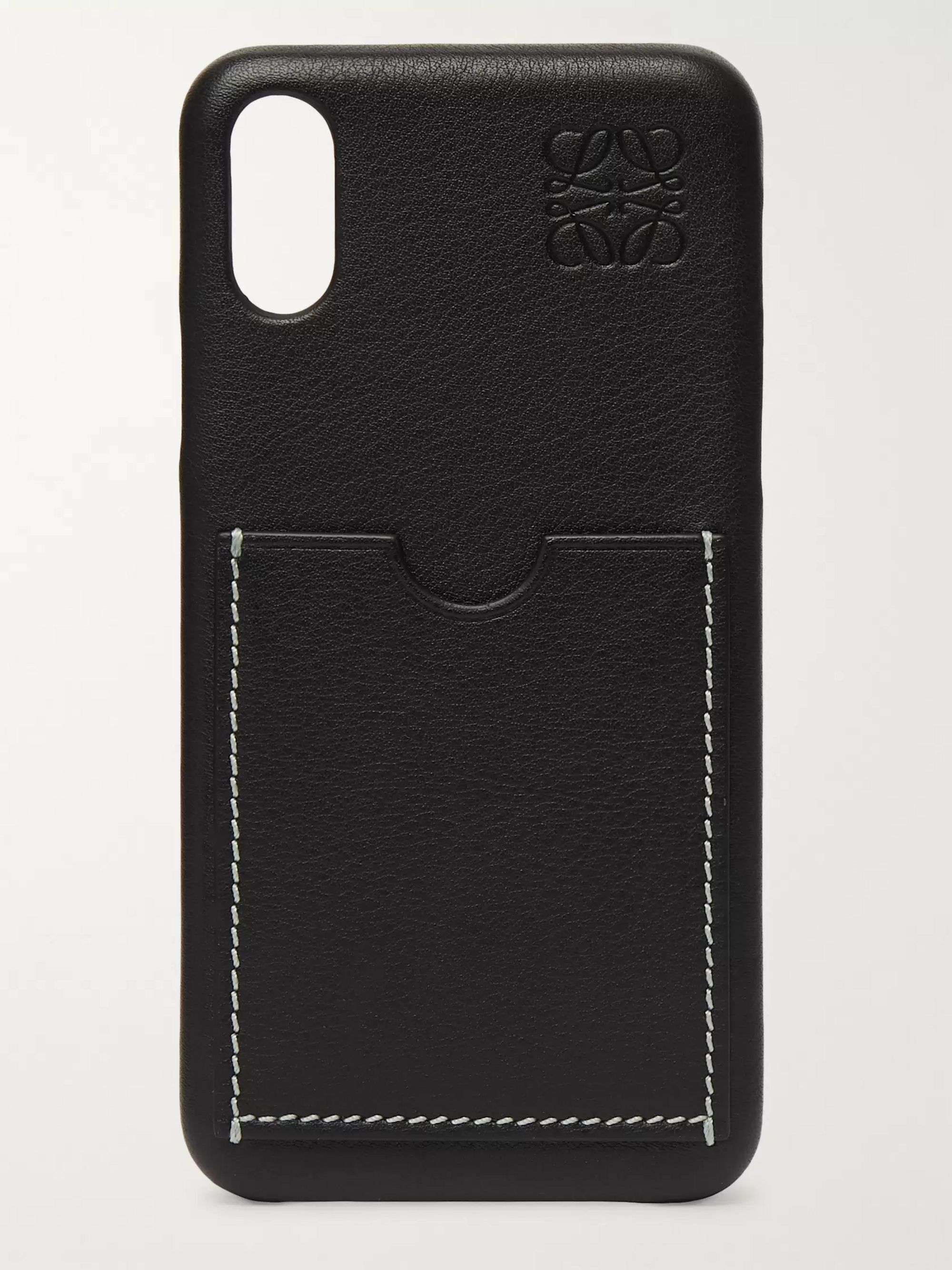 Loewe Textured-Leather iPhone X and XS Case