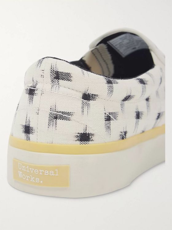 Universal Works + Sebago Printed Canvas Slip-On Sneakers