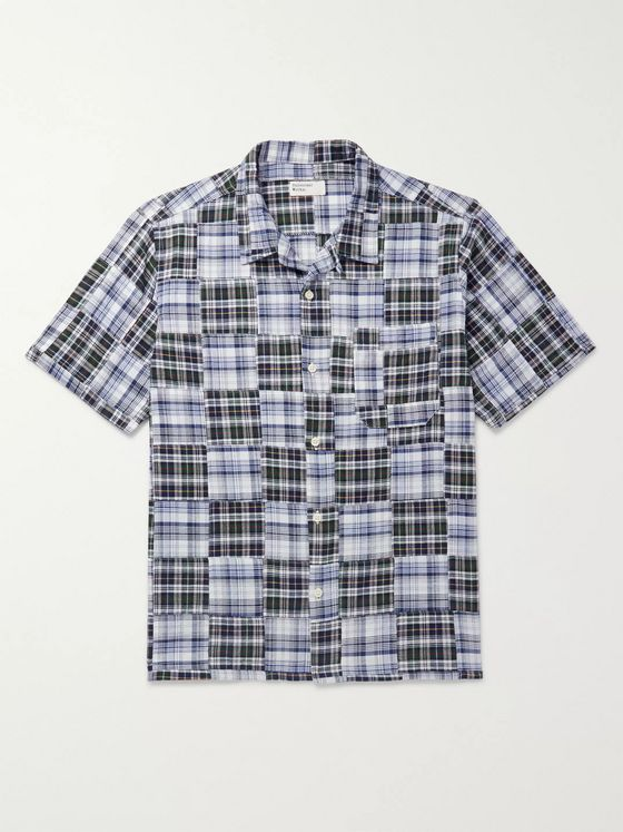 Universal Works Patchwork Madras Cotton Shirt