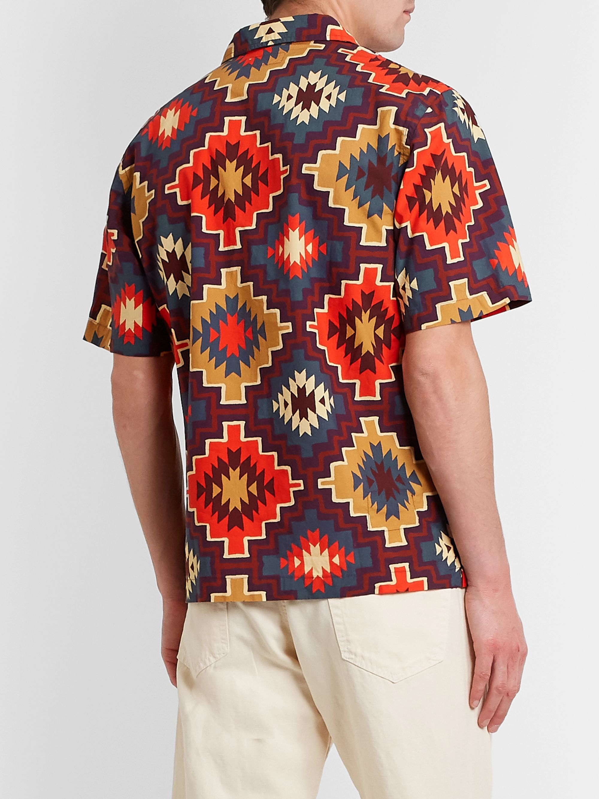 Universal Works Sante Fe Camp-Collar Printed Cotton Shirt