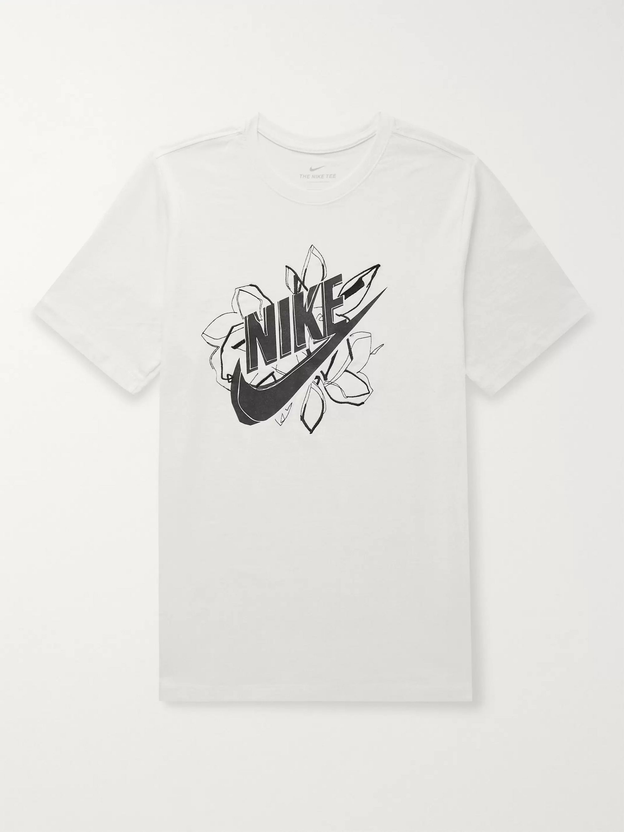 White Logo Print Cotton Jersey T Shirt Nike Mr Porter