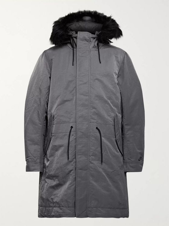 Nike Sportswear Faux Fur-Trimmed Nylon Hooded Down Parka