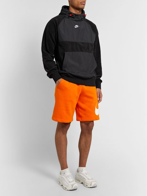 Nike Sportswear Club Fleece-Back Cotton-Blend Jersey Drawstring Shorts
