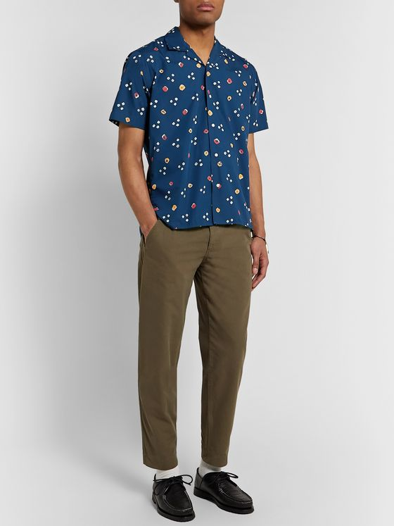 Gitman Vintage Camp-Collar Printed Cotton-Poplin Shirt