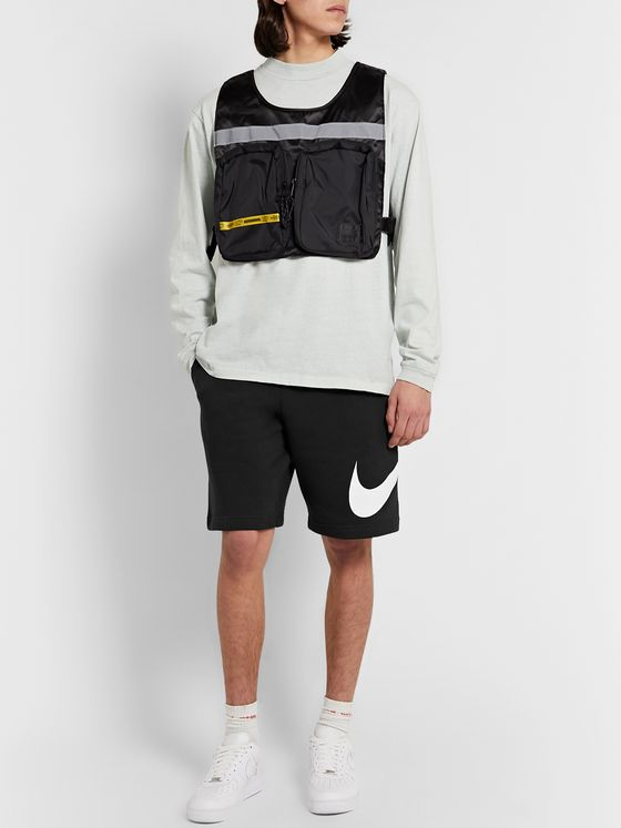 Nike Sportswear Club Logo-Print Fleece-Back Jersey Drawstring Shorts