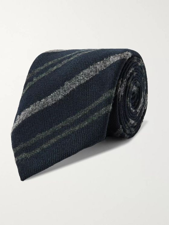 Boglioli 7.5cm Striped Virgin Wool Tie