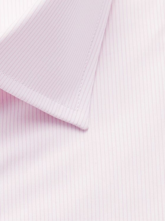 Emma Willis Light-Pink Slim-Fit Double-Cuff Pinstriped Cotton Poplin Shirt