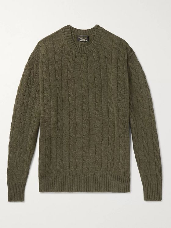 Emma Willis Cable-Knit Cashmere Sweater