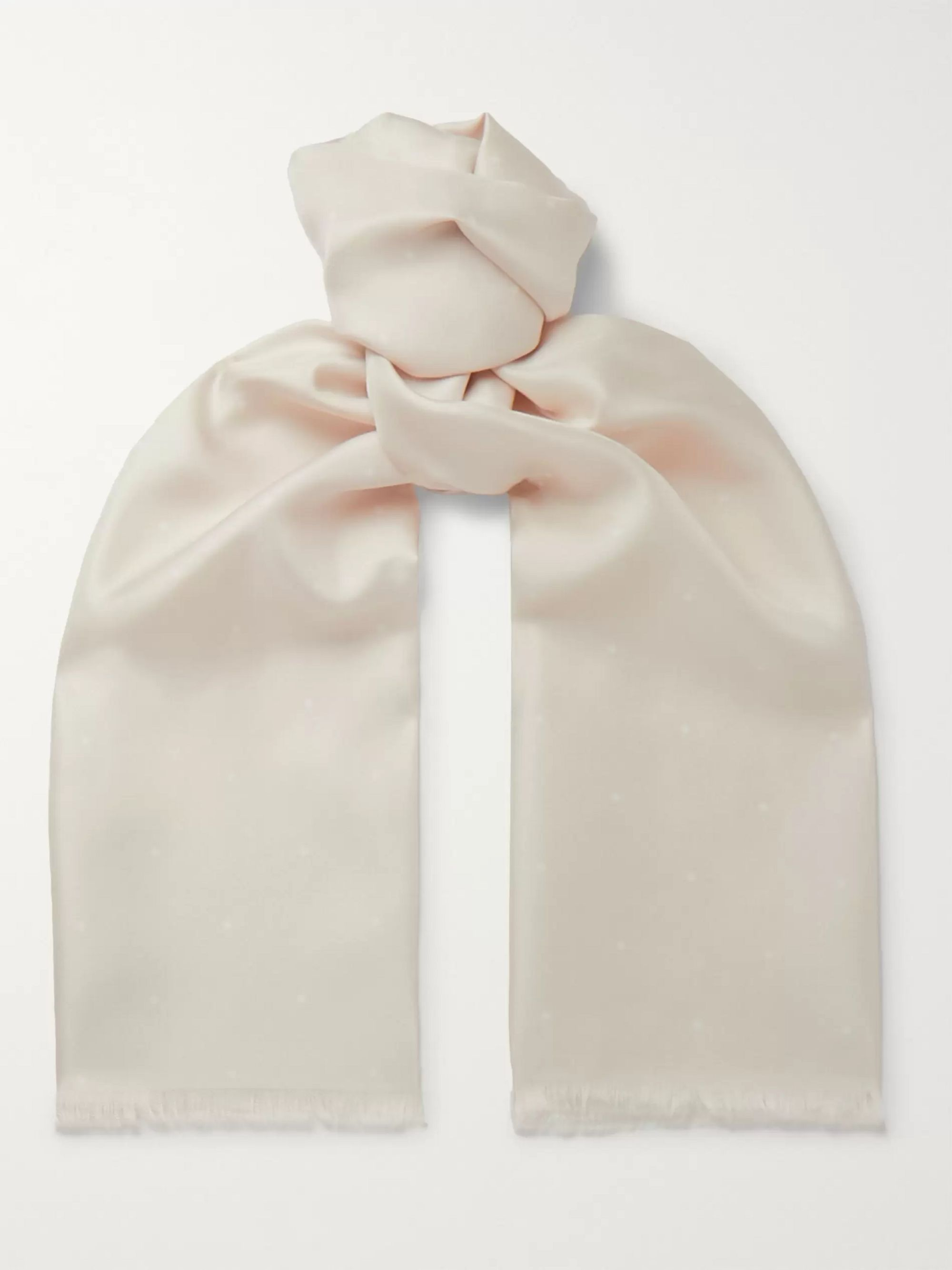 Cream Silk Scarf