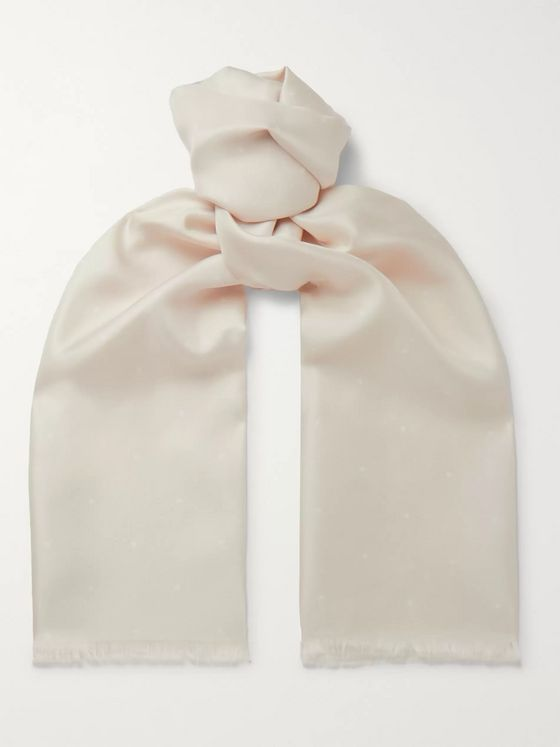 Favourbrook Polka-Dot Silk Scarf