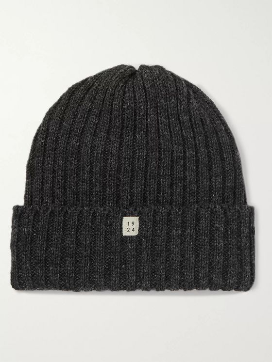 MAN 1924 Ribbed Mélange Wool Beanie