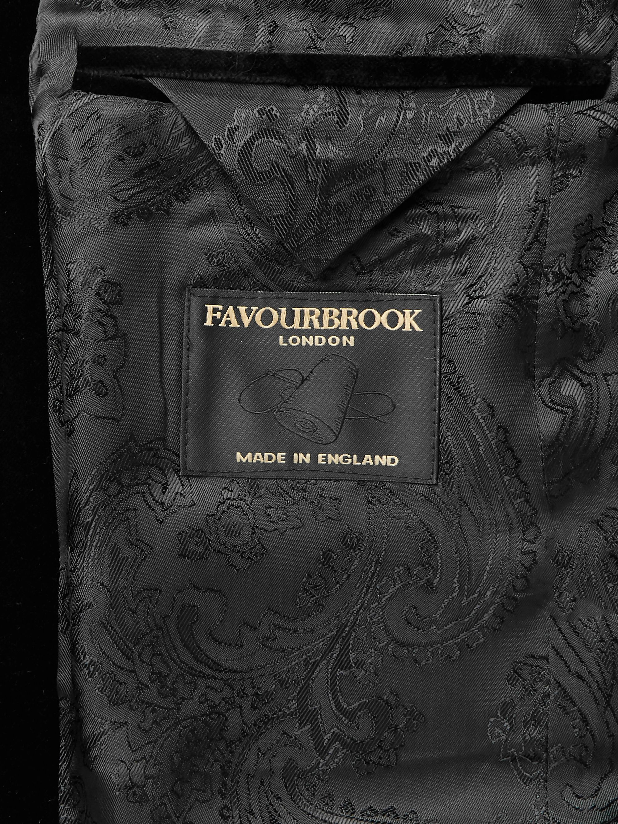 Favourbrook Dark-Green Slim-Fit Nehru-Collar Cotton-Velvet Jacket