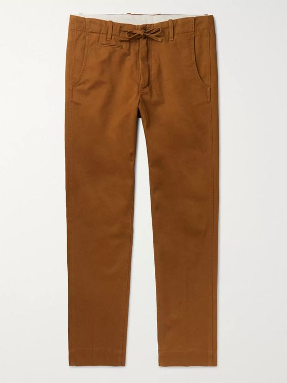 MAN 1924 Tomi Tapered Cotton Drawstring Trousers