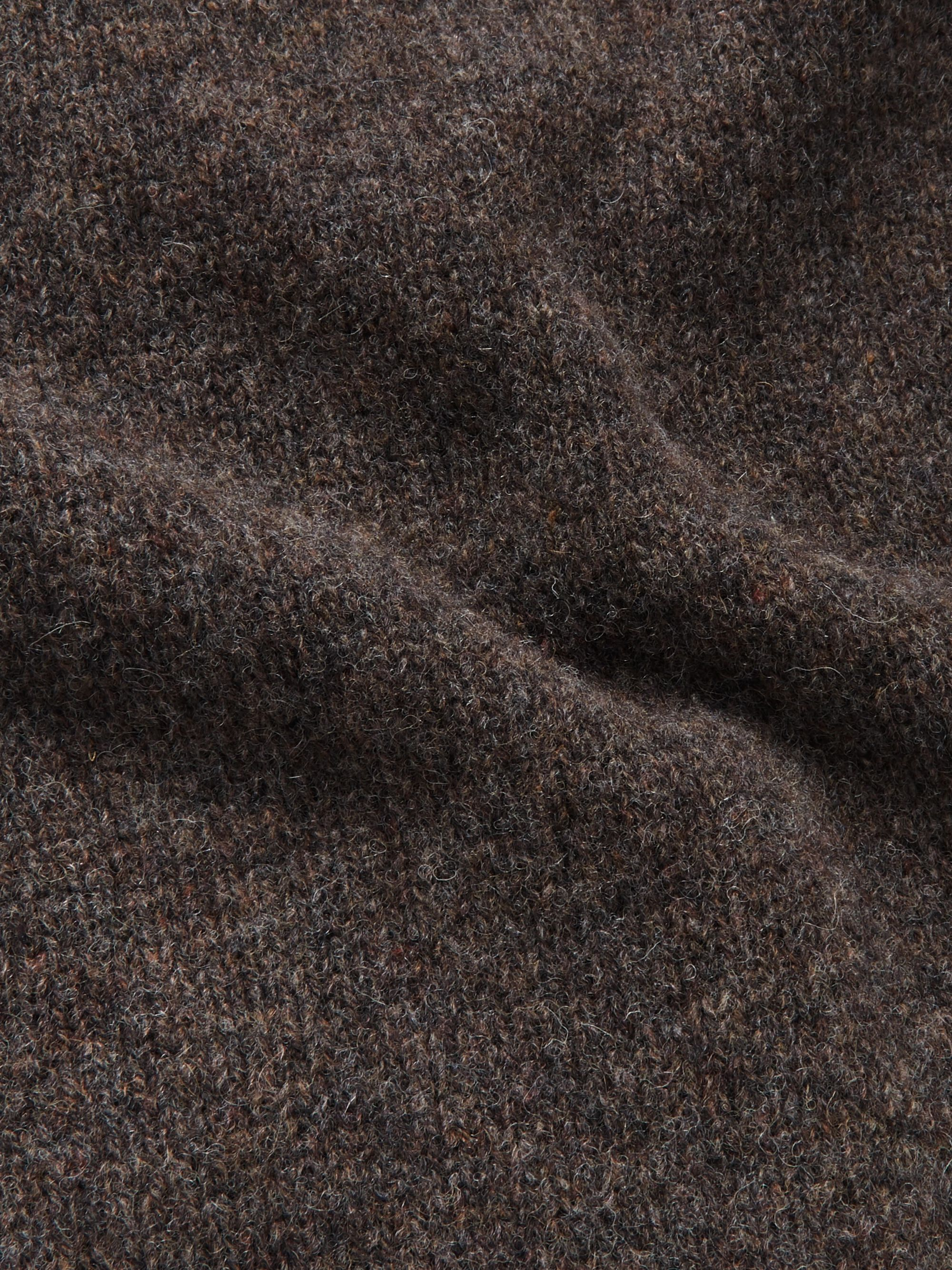 MAN 1924 Mélange Shetland Wool Rollneck Sweater
