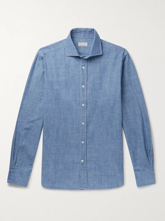 MAN 1924 Cotton-Chambray Shirt
