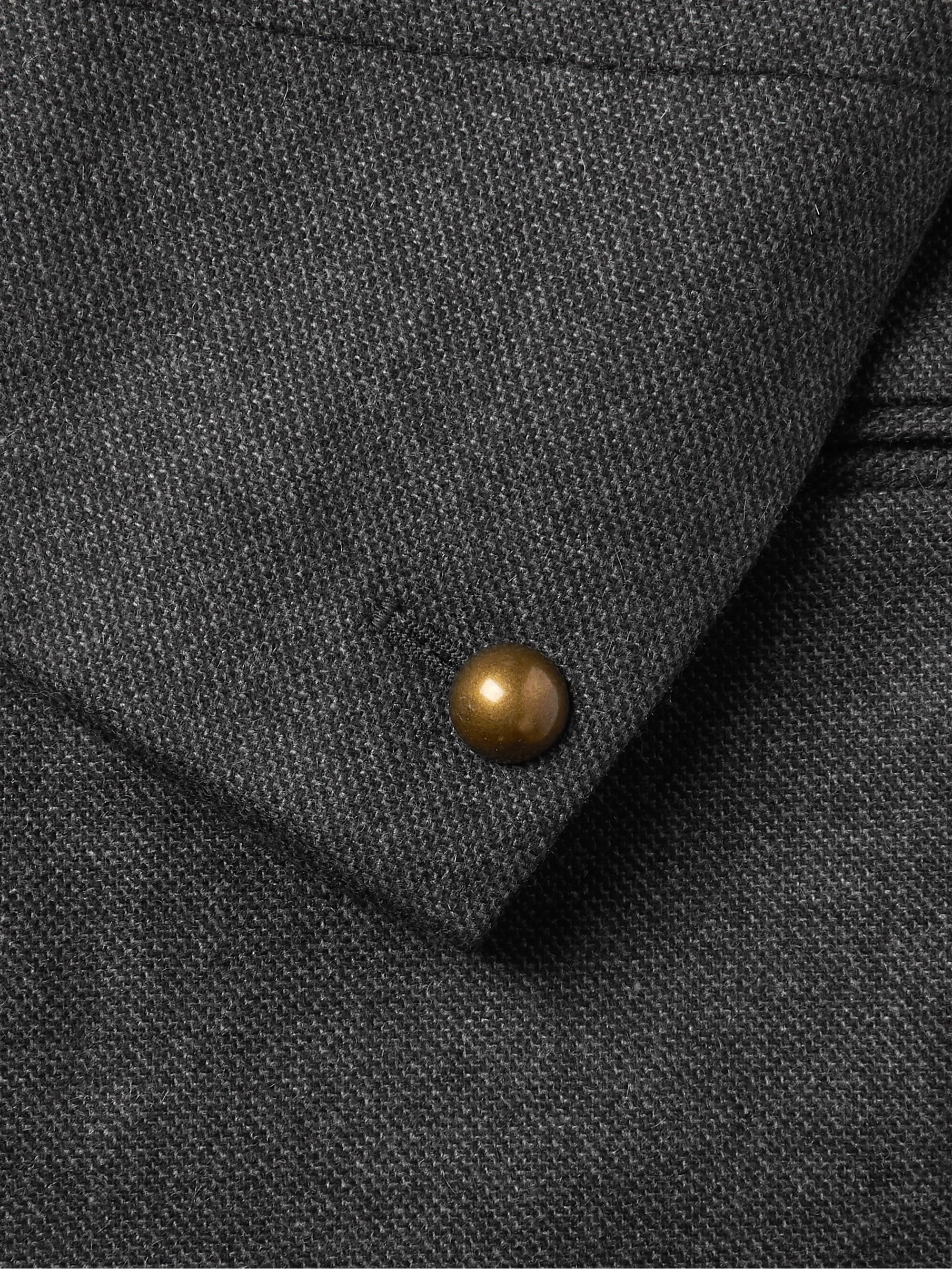 Favourbrook Charcoal Shaftesbury Slim-Fit Cashmere-Twill Jacket