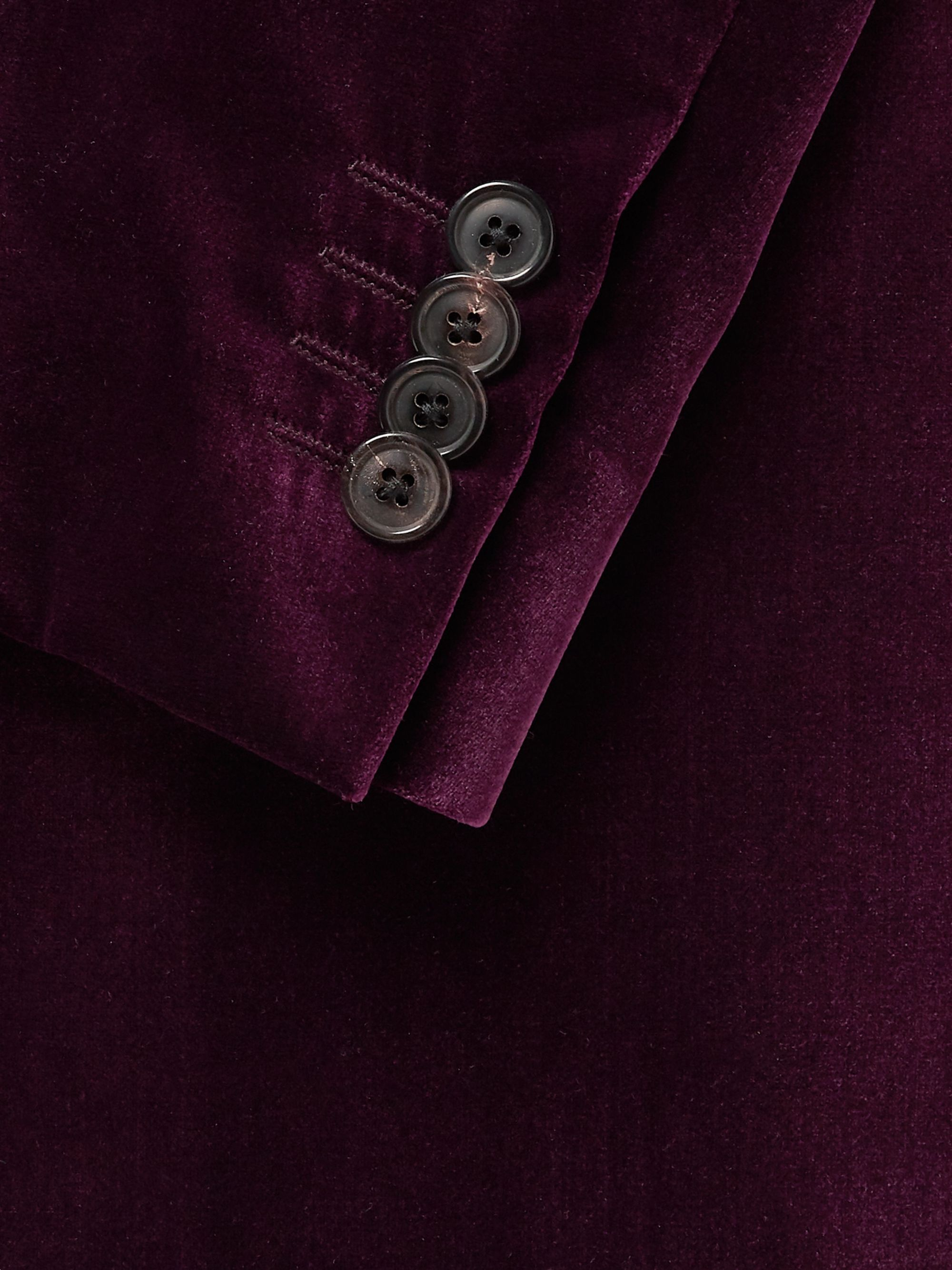 Paul Smith Burgundy Slim-Fit Velvet Tuxedo Jacket