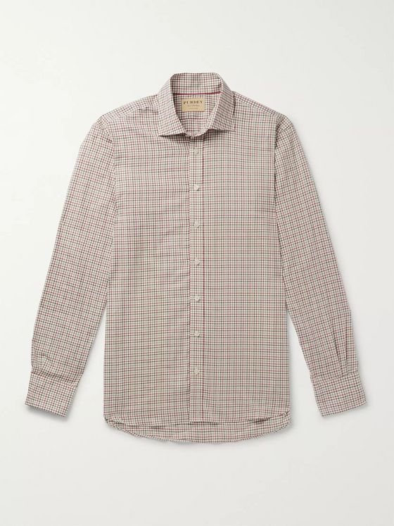 James Purdey & Sons McKenzie Checked Cotton Shirt